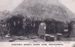 Vegetable Market Sierra Leone Africa Old Postcard