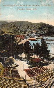 Catalina Island California Amphitheater Band Stand Antique Postcard K86654