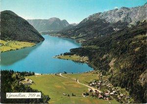 Austria Postcard Grundlsee lake panorama Gossi Styrian Salzkammergut