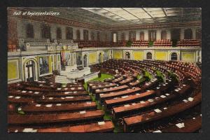 Congress Hall of Representatives Washington DC Unused c1910s