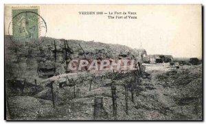 Old Postcard Verdun Fort de Vaux Army