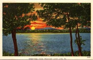 Pennsylvania Greetings From Promised Land Lake 1956