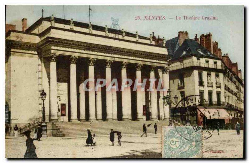 Nantes Old Postcard The Theater Graslin