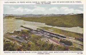 PANAMA, 1900-1910´s; General View Of Pedro Miguel Locks, From Cerro Luisa, M...