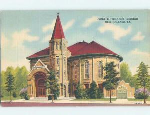 Linen CHURCH SCENE New Orleans Louisiana LA A9494