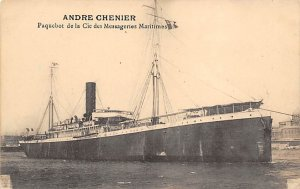 Andre Chenier French Misc Lines Ship Writing on back