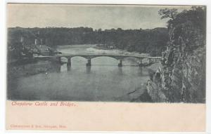 Chepstow Castle & Bridge Monmouthshire Wales UK 1905c postcard