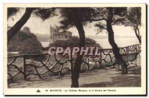 Old Postcard Biarritz The Basque Chateau seen through the Tamaris