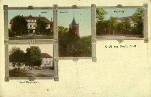 poland germany, DEETZ DZIEDZICE, Adolf Morgenstern, Kirche, Pfarrhaus (1910s)