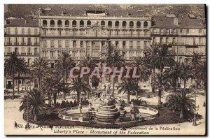 Old Postcard Toulon Place De La Liberte Monument federation