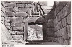 Greece Mycenes Porte des Lions Real Photo