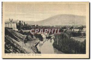 Old Postcard Pamplona desde la Ripa de Beloso