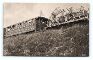 Postcard WWI German Soldiers on Train Funny Sayings About French & Russians G07
