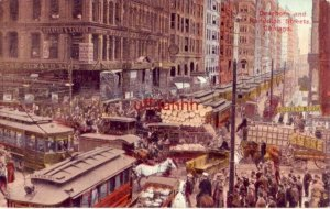 CHICAGO, IL DEARBORN & RANDOLPH STRS AT THE BUSY HOUR 1914 police on horseback