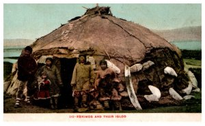 Eskimos and their igloo