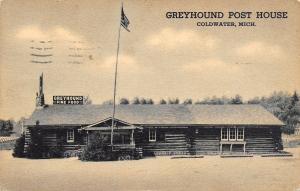 Coldwater MI Greyhound Bus Station~Post House~Log Cabin 1944 As Is