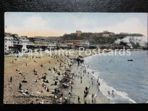 c1913 - DOVER Beach & Castle - excellent animated beach scene
