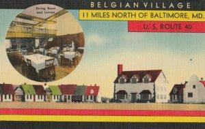 Nr BALTIMORE, Maryland, 1930-40s ; Belgian Village #2