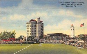 LP82 Baseball Sarasota Florida Vintage Postcard  Boston Red Sox Training