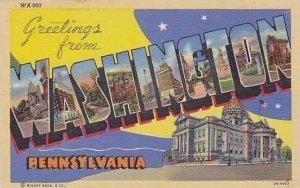 Pennsylvania Washington A Multi View Of City Greetings
