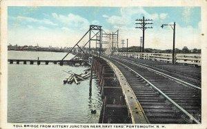 Portsmouth NH Toll Bridge Kittery Junction Near Navy Yard Postcard