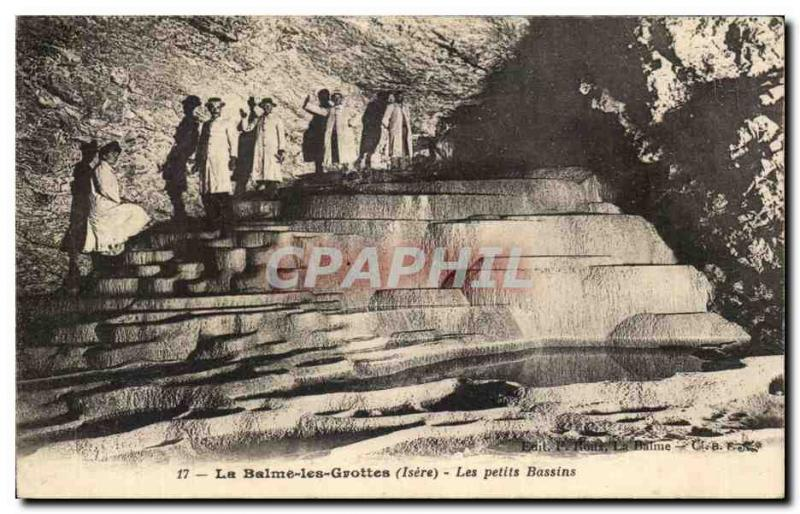 Old Postcard The Balme Caves The Small Ponds
