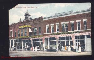 NORTH EAST PENNSYLVANIA DOWNTOWN STREET SCENE PA. VINTAGE