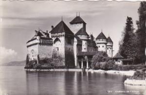Switzerland Chateau de Chillon 1946 Real Photo