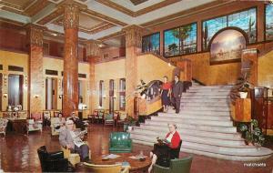 1950s Douglas Arizona Gadsen Hotel interior Freeman postcard 9130