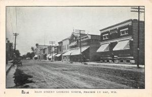 C2/ Prairie Du Sac Wisconsin Wi Postcard c1910 Main Street North Stores