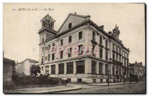 Old Postcard Agen Post