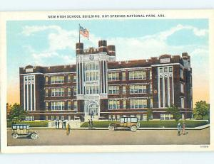 Unused W-Border HIGH SCHOOL Hot Springs Arkansas AR k0163