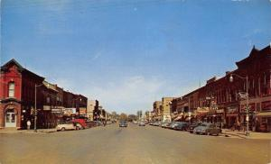 Storm Lake Iowa~Main Street Looking North~Cafe~Rexall~1950s PC