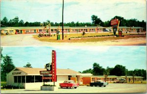 Vtg Cromo Postal Statesboro Georgia Ga Dodo Motel Restaurante 1960s Unp Múltiple