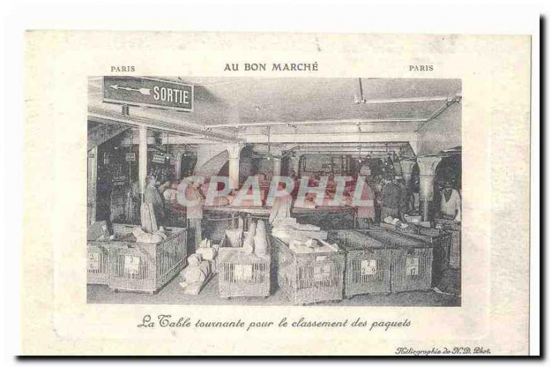 On the good Old Postcard The turntable for classifying packets (store) (repro...