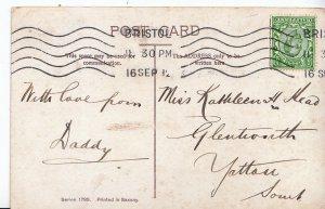 Genealogy Postcard - Family History - ?ead - Glentworth - Yatton Somerset  U3600