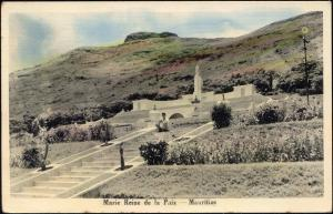 mauritius maurice, Marie Reine de la Paix, Monument (1950s) Tinted RPPC