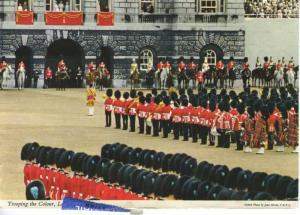Trooping The Colour London UK Guards Guardsmen c1971 Postcard D28