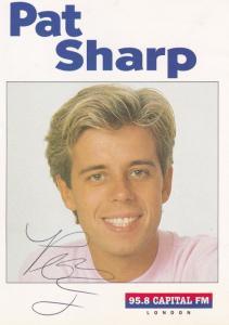 Pat Sharp Capital Radio DJ Vintage Hand Signed Cast Card Photo
