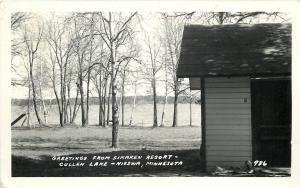 Nissawa MN~Sikaren Resort~Cullen Lake~1949 Real Photo Postcard