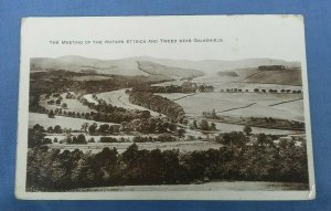 Vintage  Postcard Meeting Of The Waters Ettrick And Tweed Nr. Galashiels   E1B