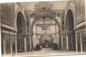 Tunisie  CPA Le Bardo, la Salle du Trone    (176448)