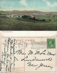 PUERTO RICO CAYEY 1912 ANTIQUE POSTCARD