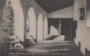 SAN DIEGO , California , 1920-30s; Library Entrance, San Diego State College