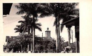 Clock Tower Mexico Tarjeta Postal Real Photo, Unused