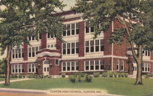CLINTON, Missouri, PU-1958; Clinton High School