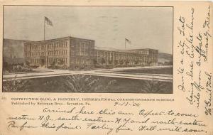Scranton PA~International Correspondance Schools~Instruction Bldg~Printery~1904