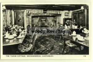 tp8153 - Kent - Dining Room inside the Tudor Cottage, in Wickhambreux - Postcard