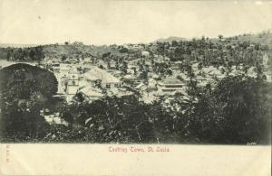 St. Lucia, B.W.I., CASTRIES, Town View (1900s) Postcard