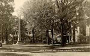 CT - Kent. Main Street showing Monument